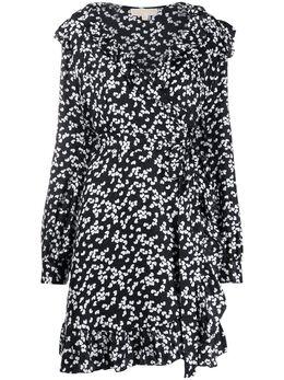 MICHAEL Michael Kors платье с запахом и цветочным принтом MS08Y1LE0K