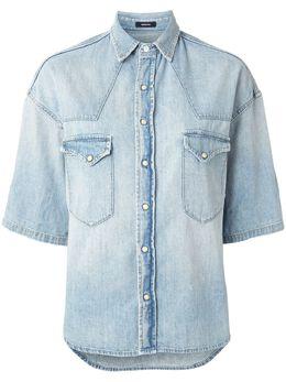 R13 джинсовая рубашка с рукавами три четверти R13W7580048