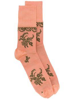 Simone Rocha жаккардовые носки с цветочным узором SOCK1S0635VISCOSE