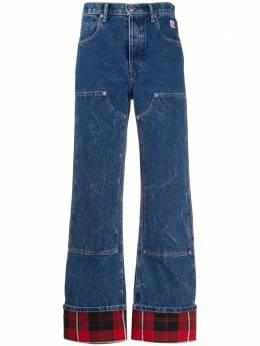 Alexander Wang расклешенные джинсы с подворотами в клетку 1WC1204272
