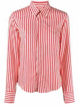 Ami Paris полосатая рубашка на пуговицах E20FC051421