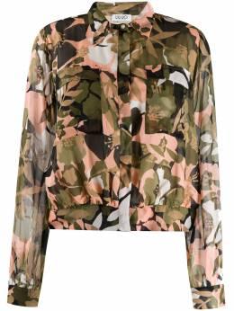 Liu Jo укороченная рубашка с цветочным принтом WA0001T5441