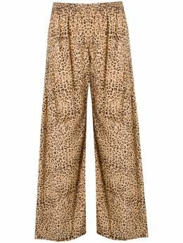 Mes Demoiselles брюки палаццо с леопардовым принтом 20SROSARIO