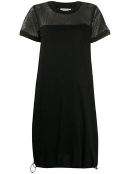 Moncler платье-футболка с сетчатой вставкой F10938I71200V8102