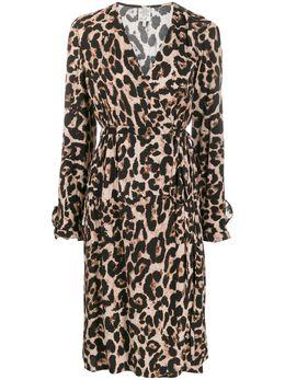 Baum Und Pferdgarten платье Adelota с запахом и леопардовым принтом 20694