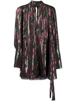 Saloni платье-трапеция с длинными рукавами 10322