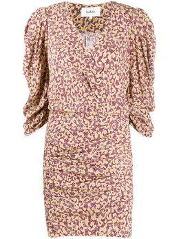 Ba&sh присборенное платье с абстрактным принтом 1E20CRYS