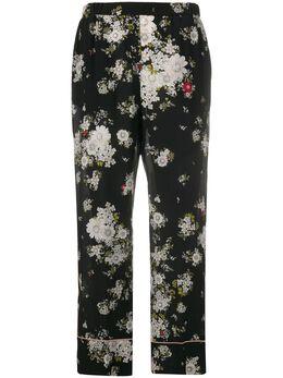 No. 21 укороченные брюки с цветочным принтом 20EN2M0B0625531