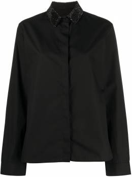 Haider Ackermann рубашка на пуговицах с кристаллами на воротнике 2036001A128098