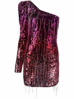 Amen платье мини на одно плечо с эффектом омбре AMS20432
