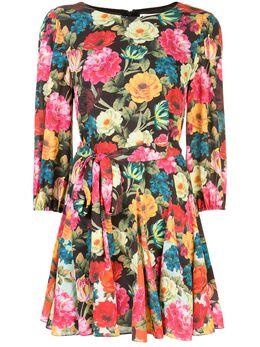Alice + Olivia расклешенное платье с цветочным принтом CC002P91538