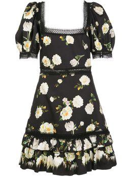 Alice + Olivia платье мини Wylie с квадратным вырезом CC002P96536