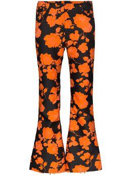 Marques'Almeida укороченные расклешенные брюки с цветочным принтом SS20TR0018BRF