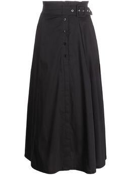 Patrizia Pepe расклешенная юбка с присборенной талией 2G0774A23