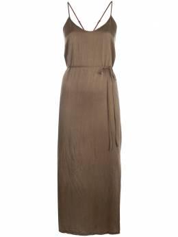 Raquel Allegra платье-комбинация с перекрестными бретелями Z978237