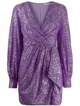 Amen платье мини с запахом и пайетками AMS20452