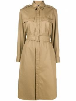 Polo Ralph Lauren платье-рубашка с поясом 211781126