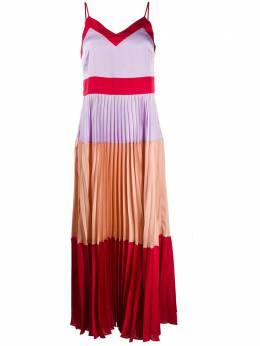 Twin-Set платье макси в стиле колор-блок 201TP2310