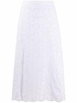 MICHAEL Michael Kors юбка миди с английской вышивкой MS07ETVEMT