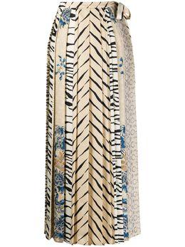 Pierre-louis Mascia плиссированная юбка с запахом SOLDATONWSGO10781