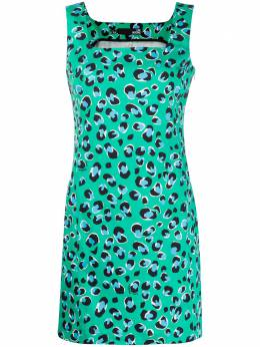 Love Moschino платье-трапеция с леопардовым принтом WVI0200S3411