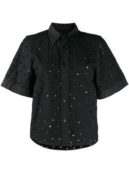 Ami Paris рубашка с короткими рукавами и вышивкой E20FC272425