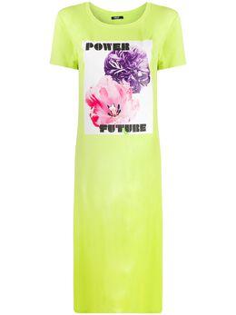 Liu Jo платье-футболка с графичным принтом TA0197J5756