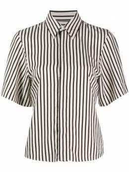 Ami Paris полосатая рубашка с короткими рукавами E20FC271421
