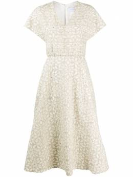 Harris Wharf London платье миди с цветочным узором A6574PYUB3