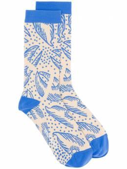 Henrik Vibskov трикотажные носки с цветочным узором S208