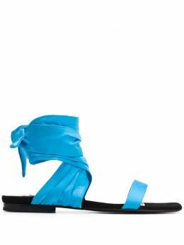 The Attico сандалии с завязками 201WS029E008