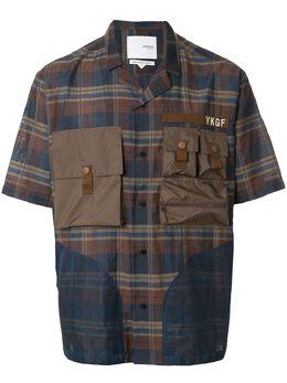 Yoshiokubo клетчатая рубашка с короткими рукавами YKS20209