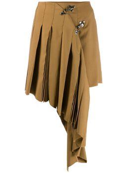 Rokh плиссированная юбка асимметричного кроя R2CA51VM