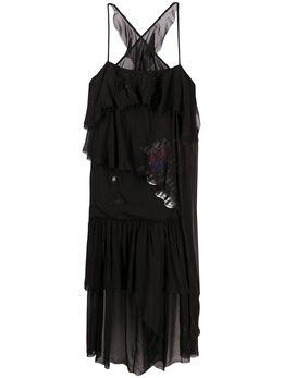 Diesel многослойное платье из ткани жоржет 00SC900CAYI