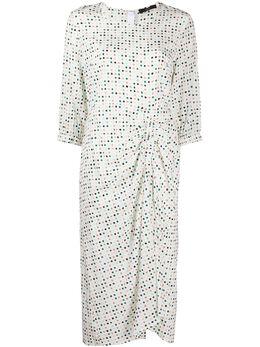 Steffen Schraut платье в горох с драпировкой 20014648