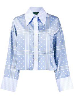 Jejia укороченная рубашка в горох 2839J1E006205063
