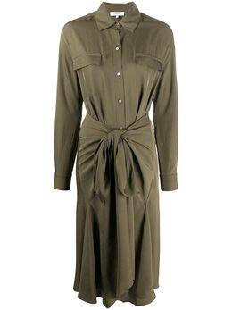 Vince платье-рубашка с драпировкой V629951089