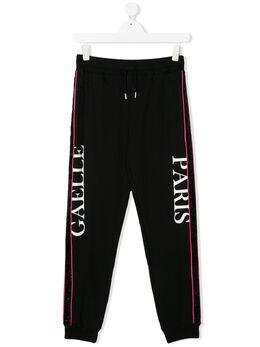 Gaelle Paris Kids спортивные брюки с полосками P0199T