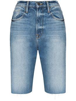 Frame джинсовые шорты Le Vintage Bermuda с эффектом потертости LVBSSRA204