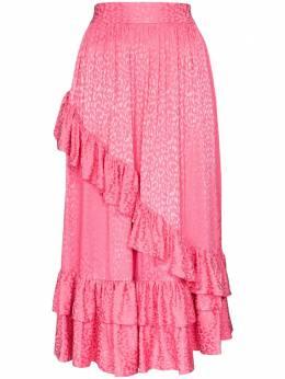 Batsheva юбка миди с оборками и принтом BHS0010