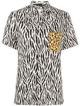 R13 рубашка с короткими рукавами и анималистичным принтом R13W7619TBWE