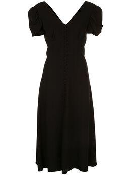 Saloni платье с объемными рукавами 10363