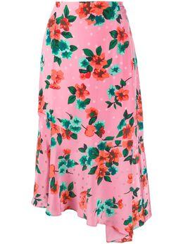 Essentiel Antwerp юбка асимметричного кроя с цветочным принтом VARNO