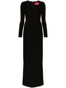 Solace London платье макси Marlie с вырезом в форме сердца OS26021