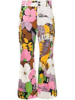 La Doublej брюки Hendrix с цветочным принтом TRO0014COT005BFL0001