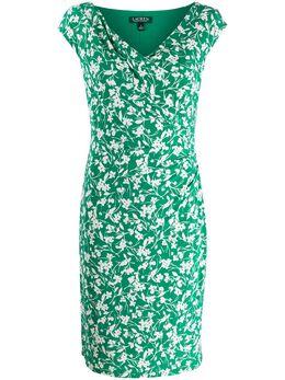 Lauren Ralph Lauren облегающее платье с цветочным принтом 250785960