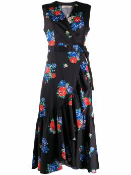 Tory Burch платье с запахом и цветочным принтом 58305