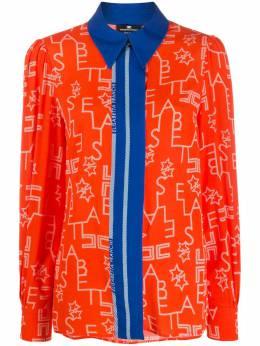 Elisabetta Franchi блузка с контрастными вставками CA25101E2H85