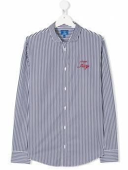 Fay Kids рубашка в полоску с логотипом 5M5050ME470