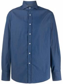 Brunello Cucinelli рубашка из ткани шамбре ML6941718C003